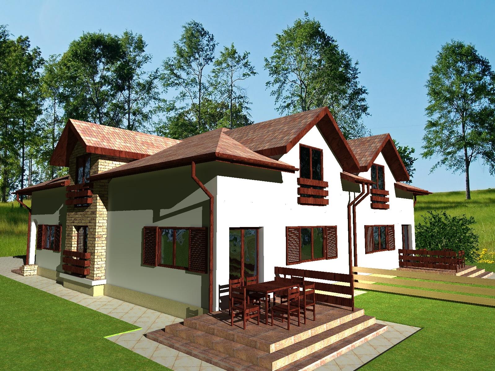 proiecte de case duplex casa i gr dina. Black Bedroom Furniture Sets. Home Design Ideas