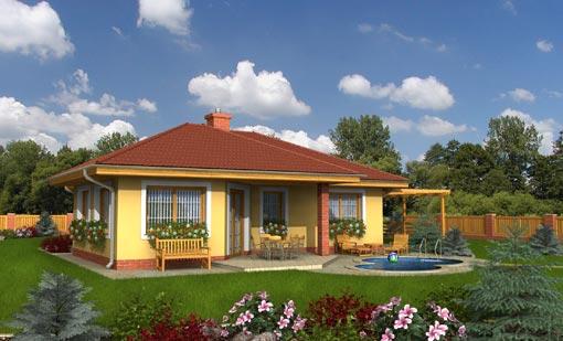Proiecte de case fara etaj cu 3 dormitoare casa i gr dina for Case parter 3 camere