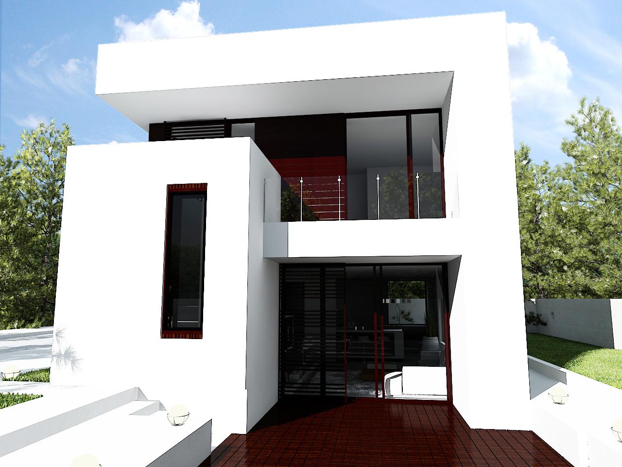 Proiecte de case moderne casa i gr dina - Casa cub moderne ...