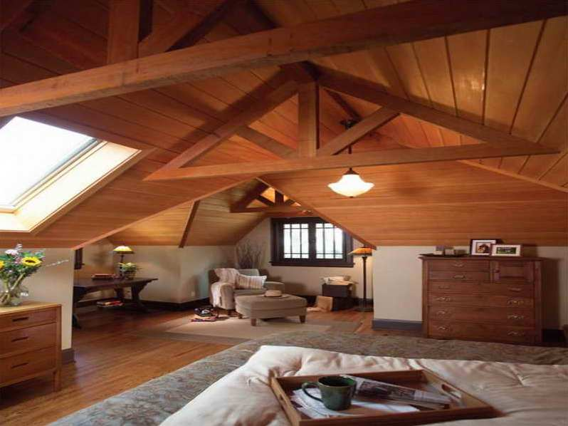Mansardarea casei de caramida casa i gr dina Rustic style attic design a corner full of passion