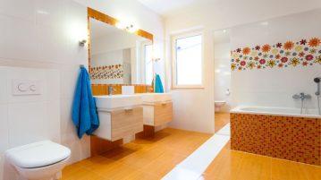Culoare pentru baia ta: portocaliu