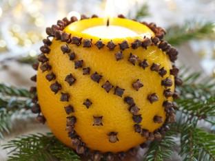 lumânare din portocală