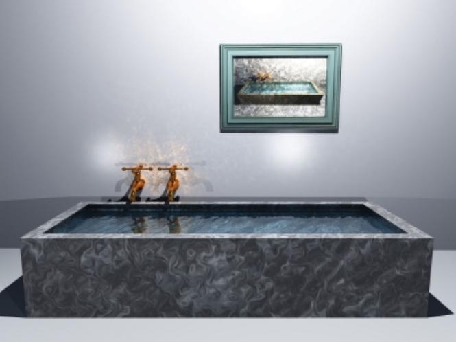 trei idei pentru o baie decorata in alb si negru. Black Bedroom Furniture Sets. Home Design Ideas