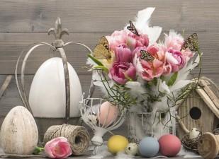decorul de Paște din casă