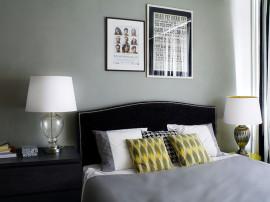 Spatiu banal transformat intr-un dormitor intim
