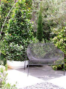 mobilier exterior bancheta eleganta
