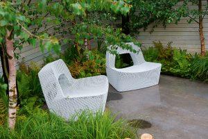 mobilier exterior fotolii albe