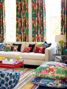 draperie living colorat
