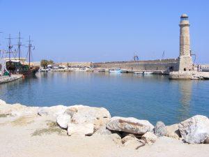 Creta farul cetatii Fortezza Rethymnon