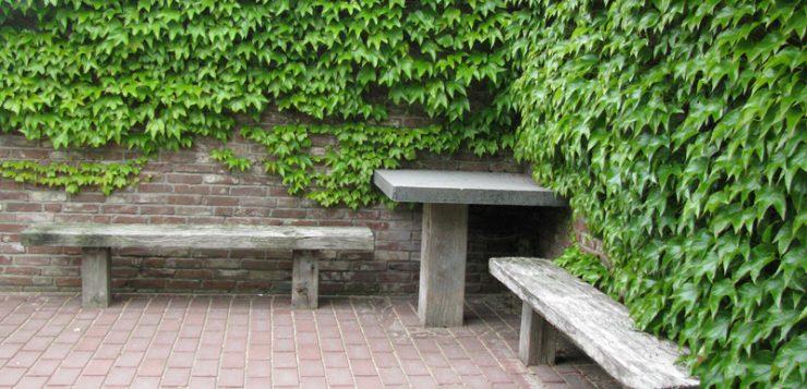 loc de odihna ziduri caramida