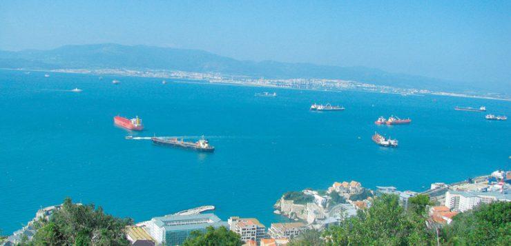 Gibraltar stramtoarea vazuta de sus