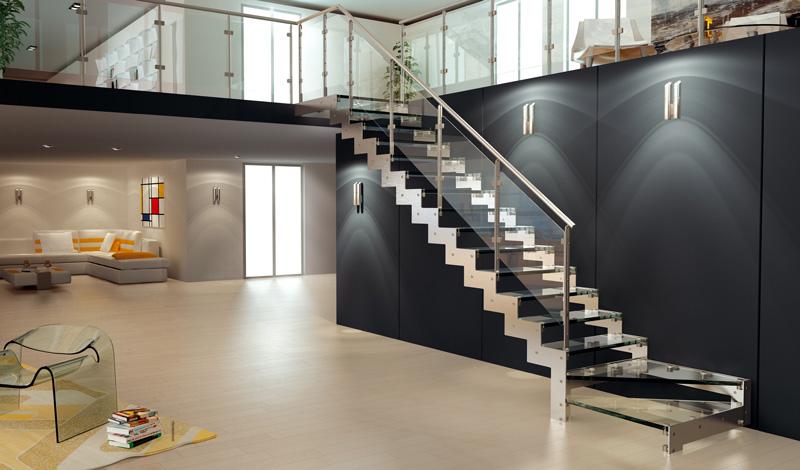 Sticla rezistenta la amenajari in casa - Scale da interni moderne ...