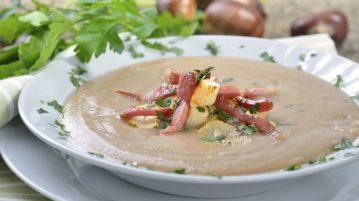 supă de castane comestibile