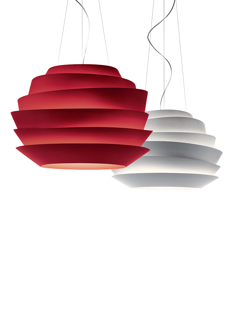 Foscarini-LE_SOLEIL_red_and_white