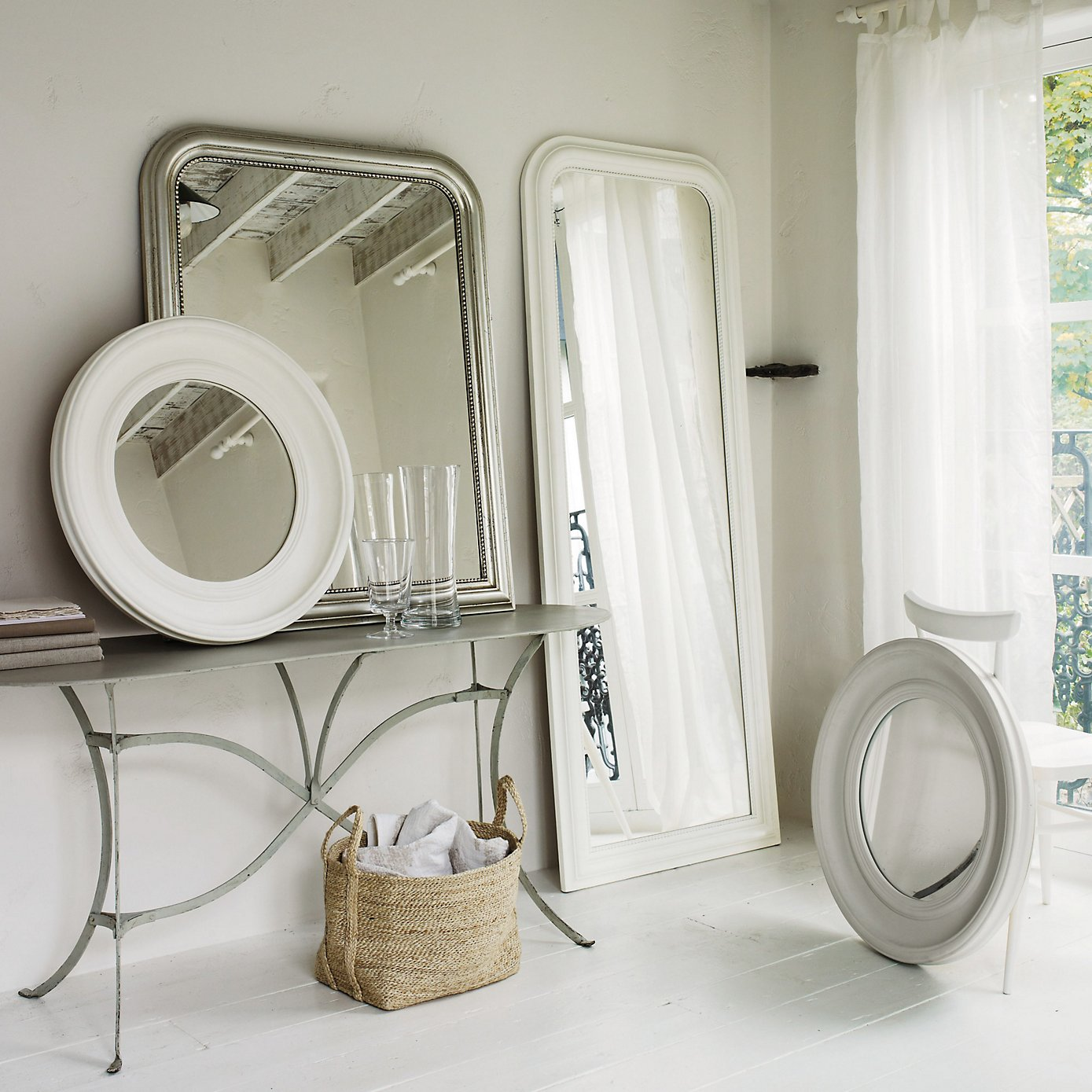 the white company Portland Wall Mirror - GreySP13_POFOM_15_L