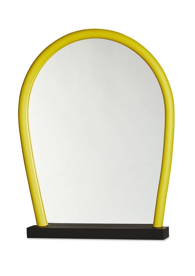Intro Bent Wood Mirror black yellow