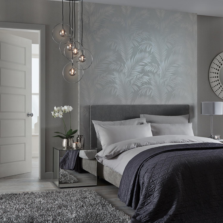 De ce este griul o culoare perfecta - Habitaciones con papel pintado y pintura ...