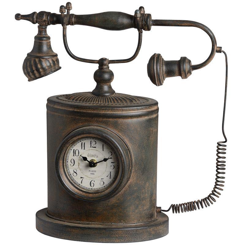 Telefon decorativ cu ceas, model Quirky. Foto: Interior Store