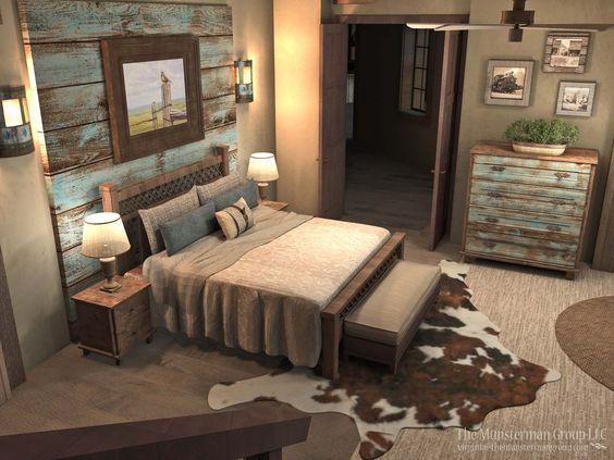 dormitor in stil rustic