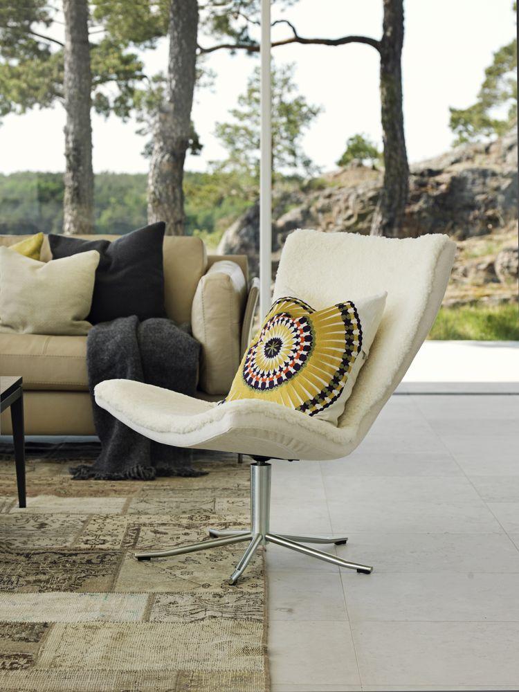 terasă modernă scaun blană