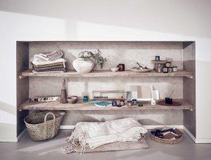 Dormitor rustic neutru